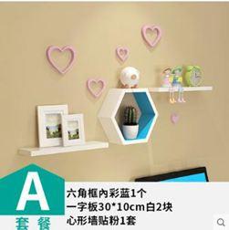 裝飾架 置物架壁掛隔板創意格子電視背景牆壁裝飾客廳免打孔現代簡約jy