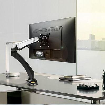 螢幕架 NB新品液晶顯示器底座電腦屏架子桌面萬向伸縮支架無孔屏掛架F100jy