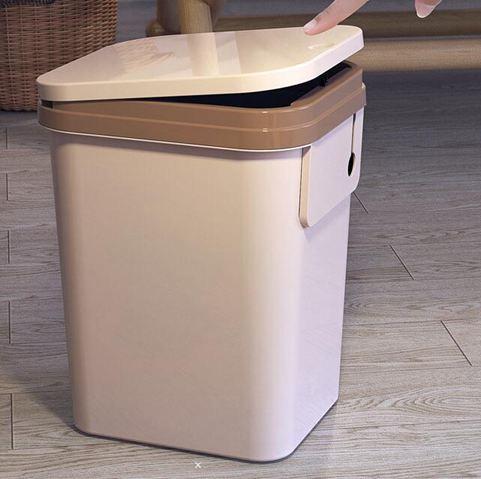 垃圾桶 家用衛生間創意有帶蓋客廳廁所臥室廚房大號戶外筒箱搖塑料jy