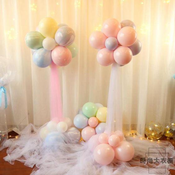 結婚用布置周歲生日派對創意情人節裝飾ins網紅花朵氣球立柱路引