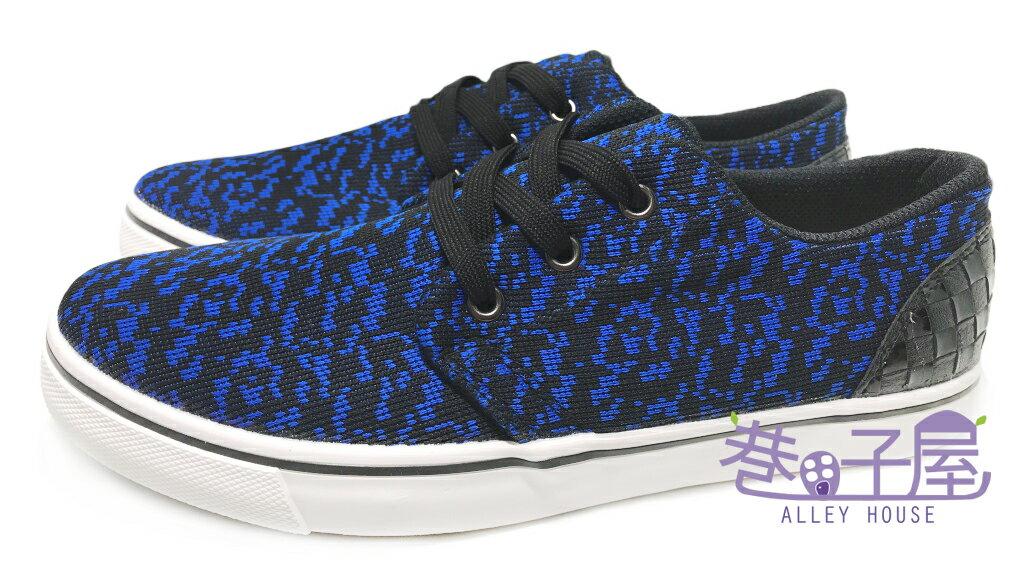 【巷子屋】吉梵范倫鐵諾 男款混色編織運動休閒鞋 [8357] 藍 台灣製造 超值價$250