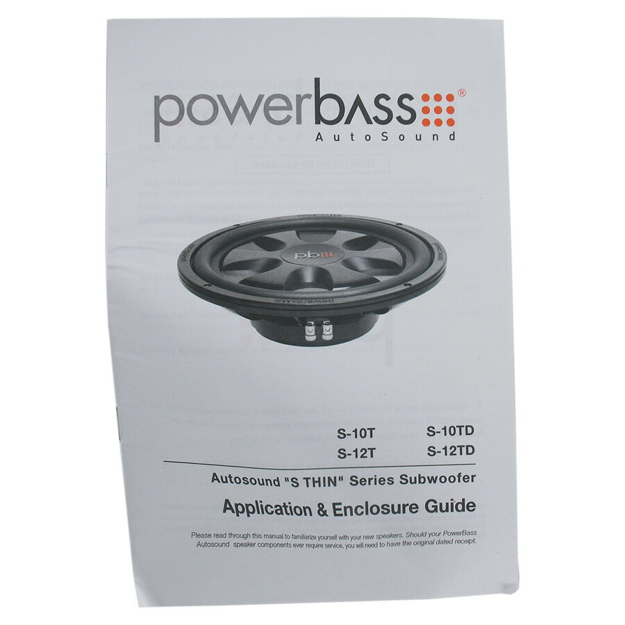 dynamicautosound: POWERBASS S-10T Shallow Mount Car Audio Subwoofer ...