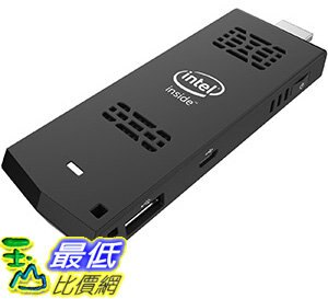 [106美國直購] Intel Ultra-Slim PC Compute Stick, Intel Atom, 1.33 GHz, Ubuntu 14.04 LTS 64 Bit, Black - 限時優惠好康折扣