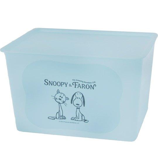 日本製SNOOPY史奴比方形塑膠拿蓋收納箱/玩具箱/衣物箱 17L (L)