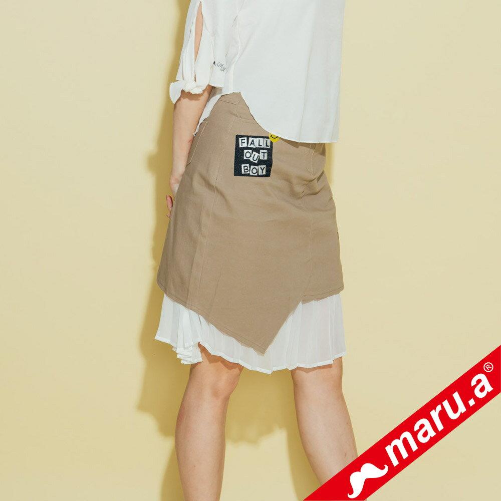 【maru.a】繡花貼布特色拼及膝裙 8316212 4