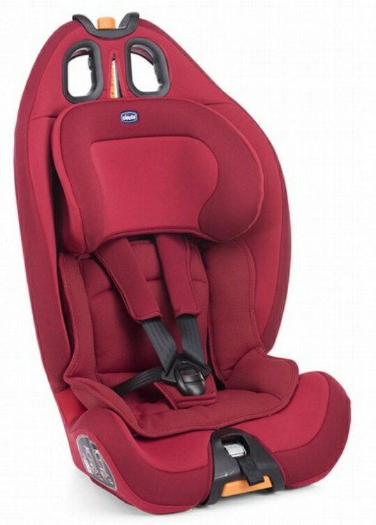 【淘氣寶寶】Chicco Gro-up123 成長型兒童汽車安全座椅 9~36kg 耀動紅