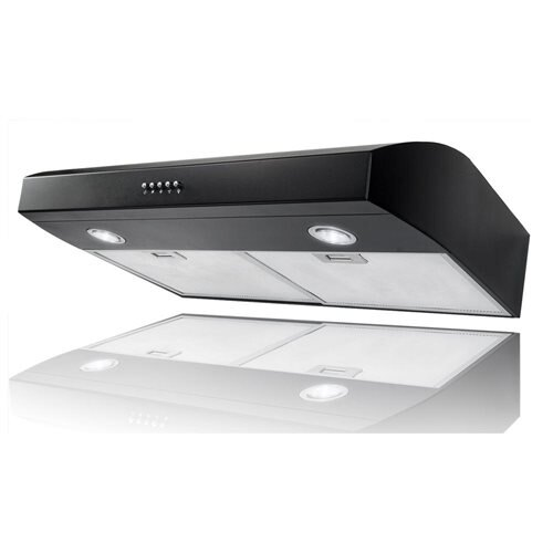 "AKDY 30"" AK-FSD-W0175BK Stainless Steel Under Cabinet Range Hood 130CFM W/3 Color Options 0"