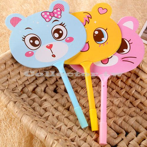 【L16063002】創意可愛動物扇子圓珠筆 原子筆 圓珠筆 造型筆 扇子