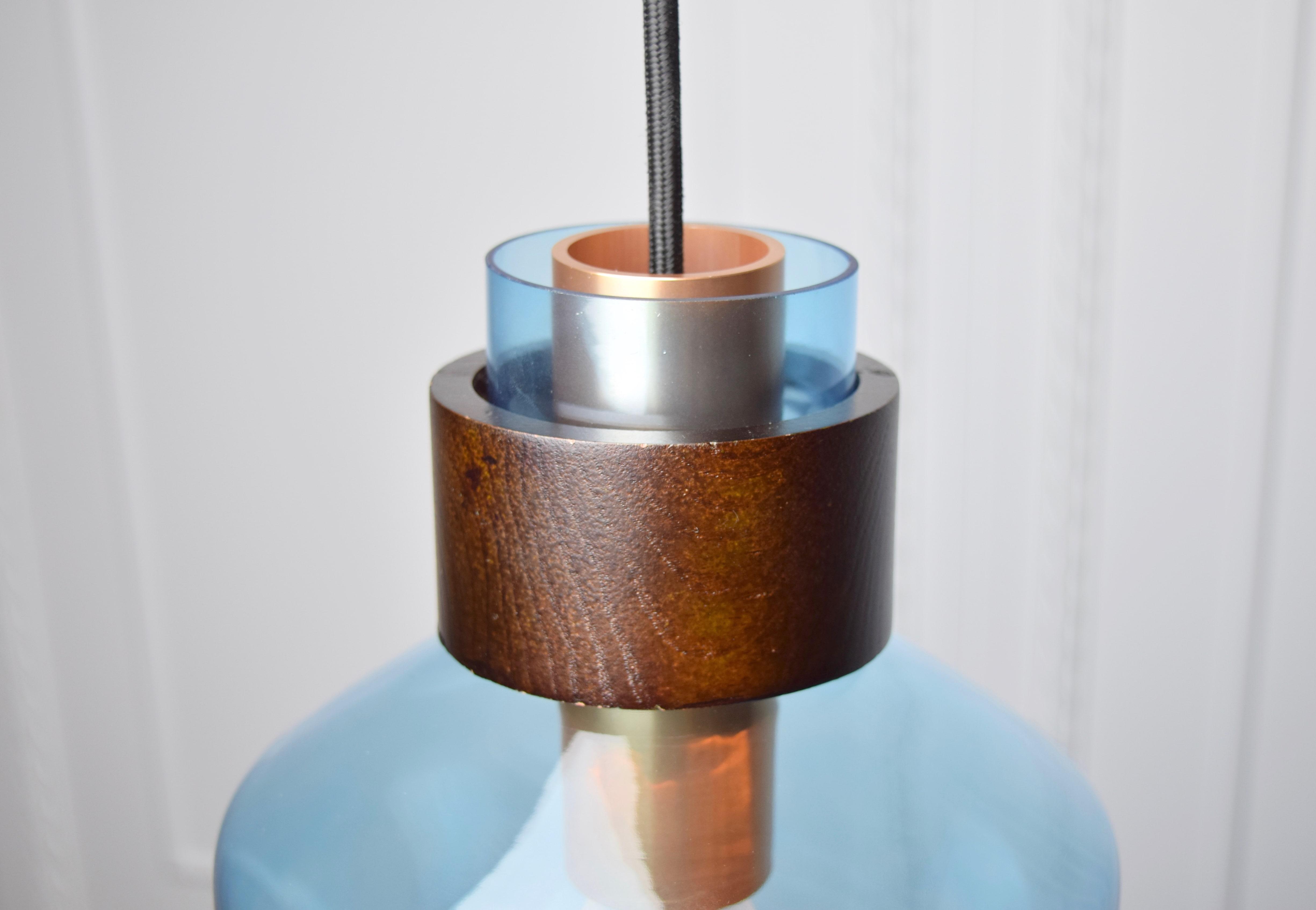 水藍色寬酒瓶造型吊燈-BNL00122 4