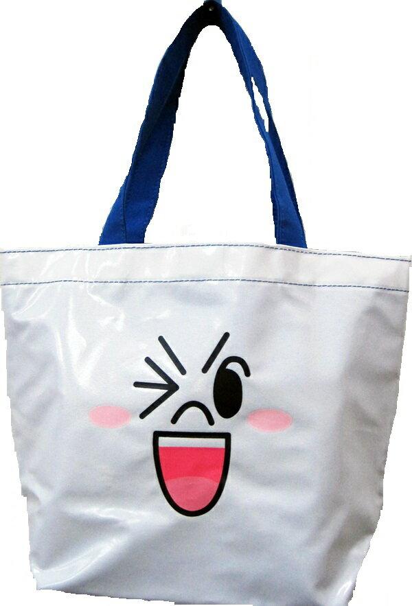 【禾宜精品】正版授權 Line Friends 饅頭人 手提袋 造型萬用袋 LI-5364-C [生活百貨]