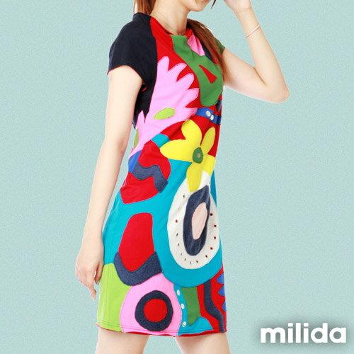 【Milida,全店七折免運】削肩袖氣質洋裝 4