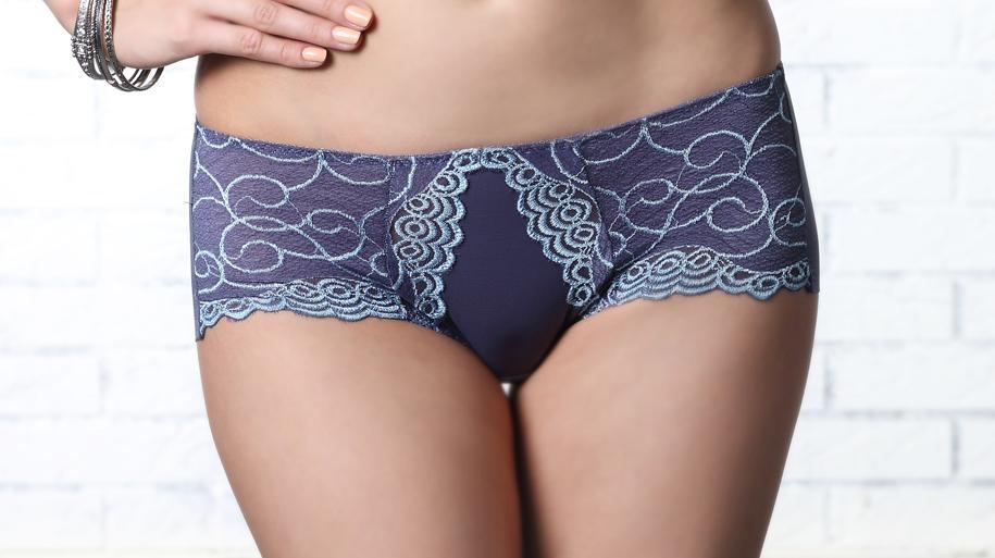 LADY 深線魔塑系列 機能調整型 低腰平口褲(神秘藍)
