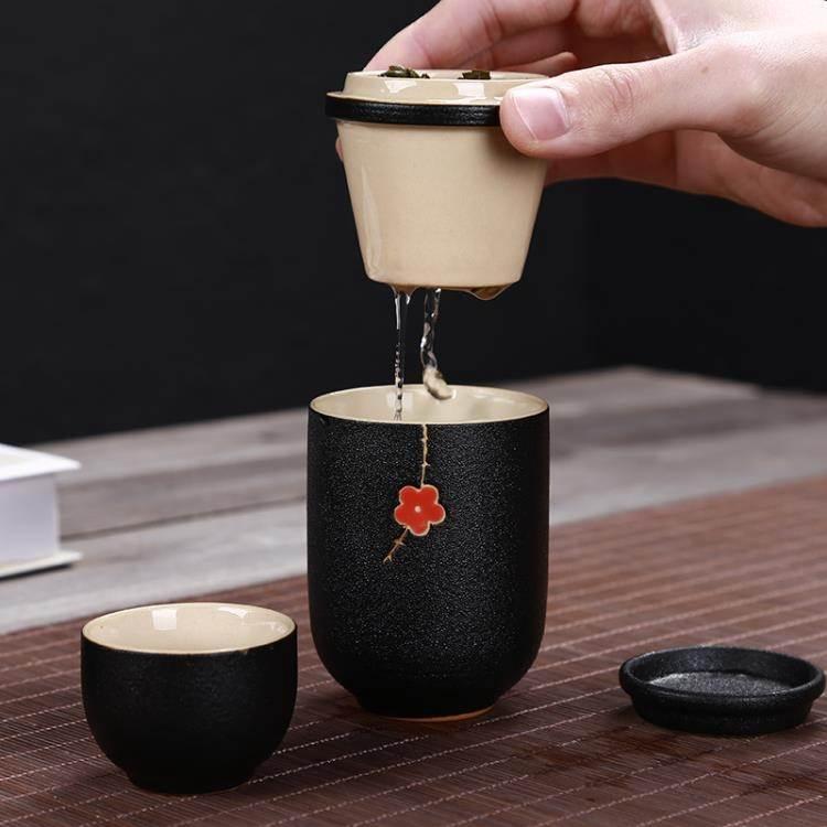 茶杯 陶瓷一壺兩杯快客杯2人戶外旅行便攜功夫茶具帶過濾個性創意禮品 8號店