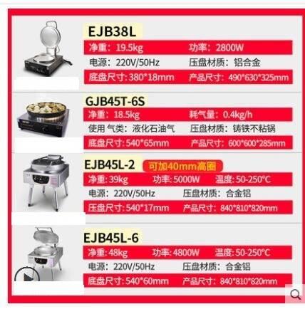 威爾寶電餅鐺商用烙餅機立式臺式果子機煎餃子爐千層餅醬香餅烤餅 8號店WJ