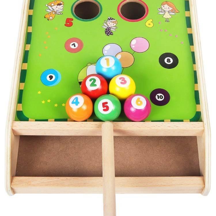 幼兒迷你臺球桌球類嬰兒童益智彈力1-3歲半2保齡球男孩女寶寶玩具