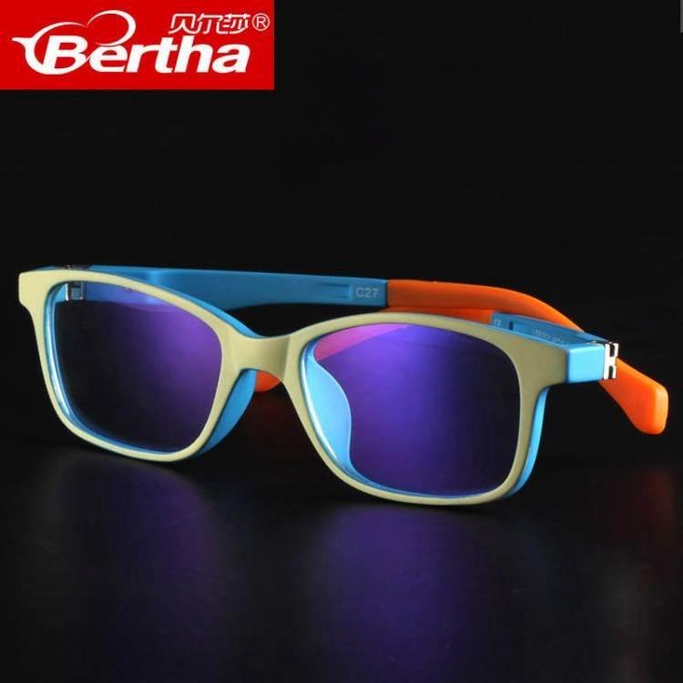Bertha兒童防藍光眼鏡男女防輻射眼睛防電腦護目鏡游戲平光鏡 熱銷