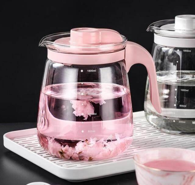 玻璃耐熱高溫冷水壺涼水壺瓶防爆大容量家用涼白開泡茶壺水杯套裝 店