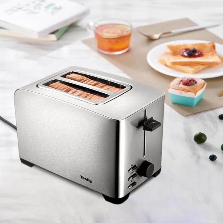 烤麵包機 Tenfly THT-8012B小型多士爐家用烤面包機全自動早餐機2片吐司機 WJ