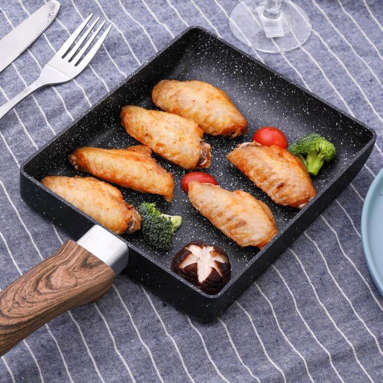 韓國尤米玉子燒鍋厚蛋燒小煎鍋早餐煎蛋平底鍋不黏方形鍋雞蛋捲鍋ATF