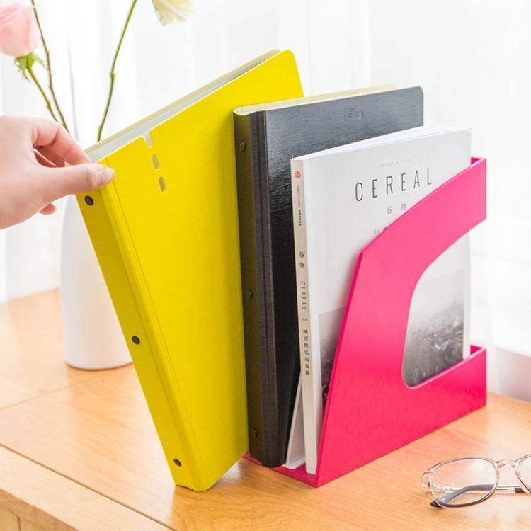 雜誌架 創易彩色文件欄文件架雜誌架辦公用品文具桌面文件收納架文件