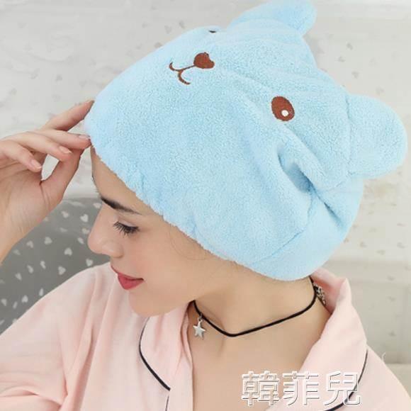 幹髮帽 創意卡通浴帽超強吸水速干包頭巾浴室可愛動物成人加厚擦頭干發帽