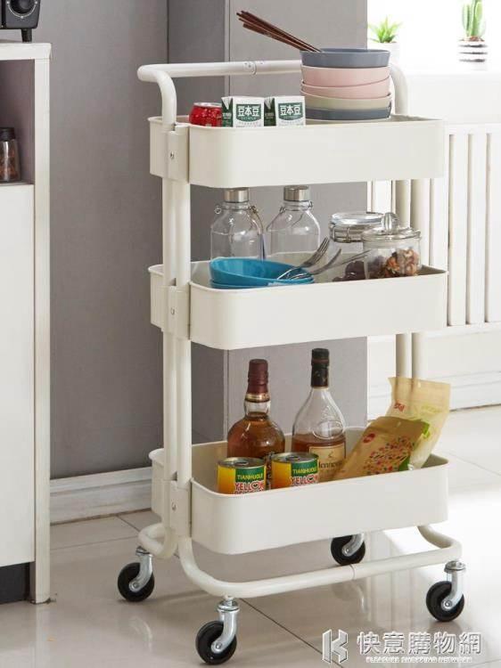 手推車廚房置物架帶輪行動落地收納架子多層衛生間浴室儲物架