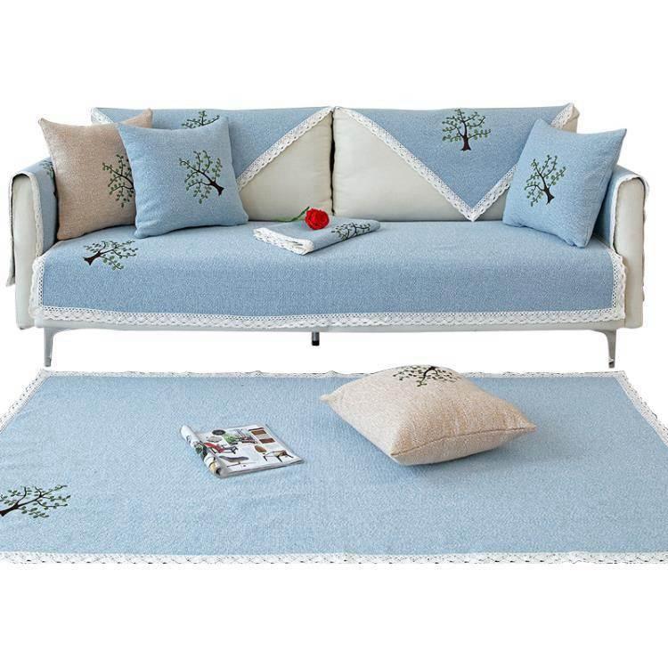 沙發套沙發墊棉麻布藝坐墊夏季款透氣簡約防滑涼席四季通用沙發套罩萬能
