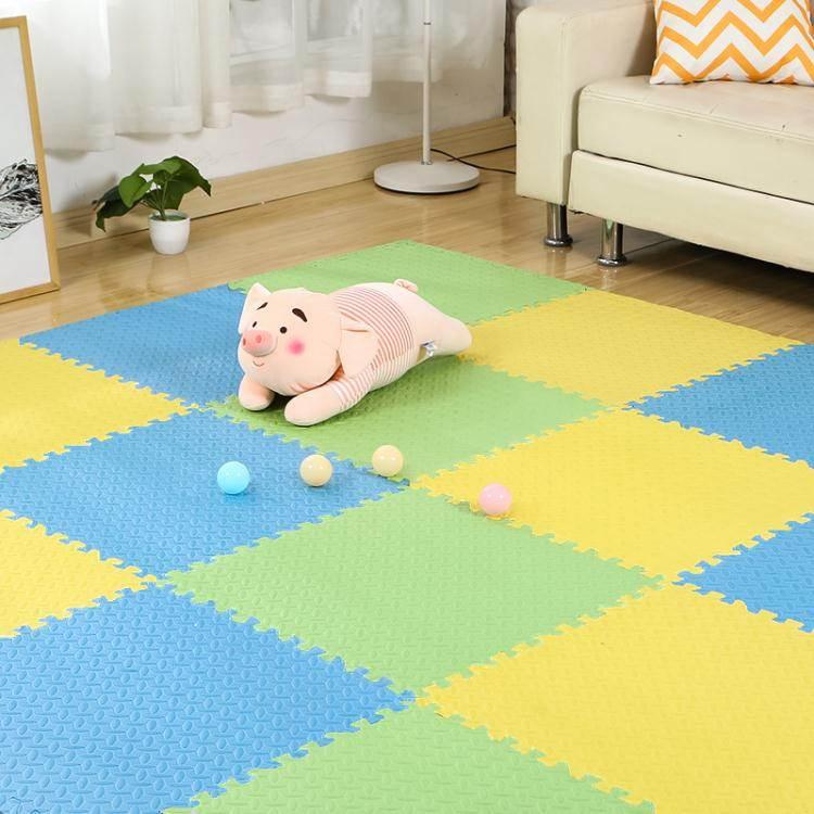 泡沫地墊拼圖家用墊子兒童爬爬墊臥室地毯爬行墊拼接海綿墊地板墊 LX