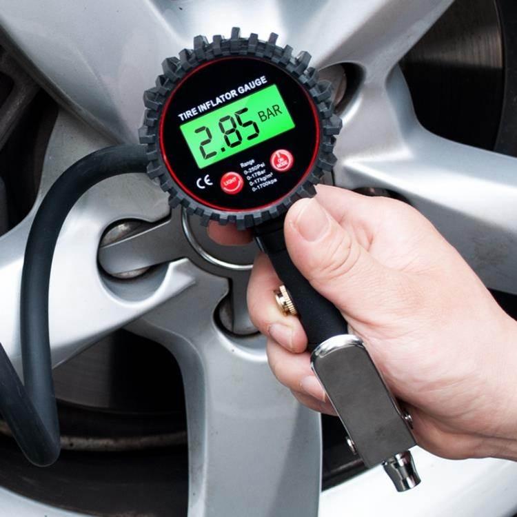 打氣槍 酷萊普 高精度胎壓表氣壓表帶充氣汽車測輪胎壓計數顯加氣打氣槍 免運