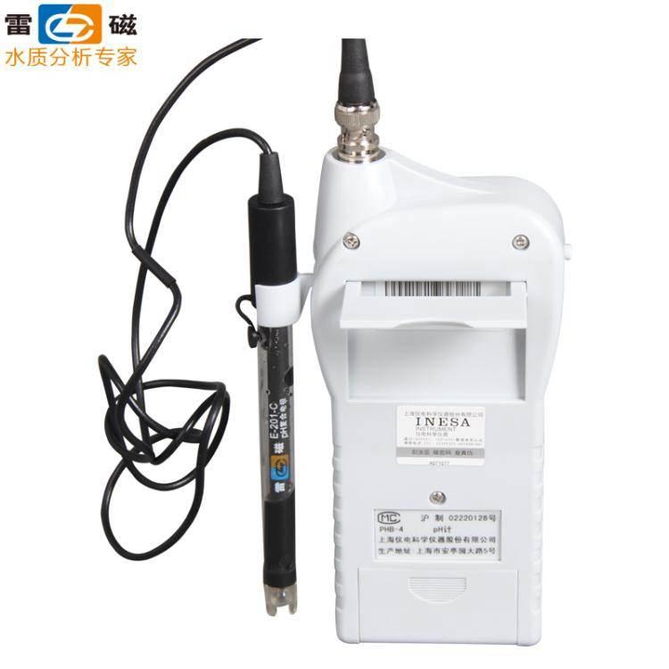 上海雷磁便攜式酸度計phb-4數顯酸堿度測試儀實驗ph計水質檢測筆 免運