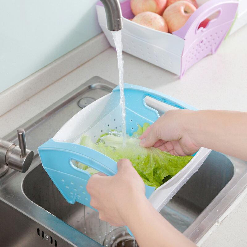 可折疊蔬果瀝水籃