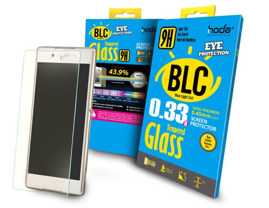 hoda【Sony Xperia Z3+】2.5D抗藍光滿版9H鋼化玻璃保護貼(半版)