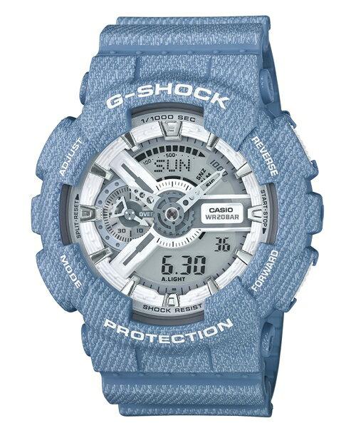 CASIO G~SHOCK GA~110DC~2A7牛仔單寧 腕錶  51mm