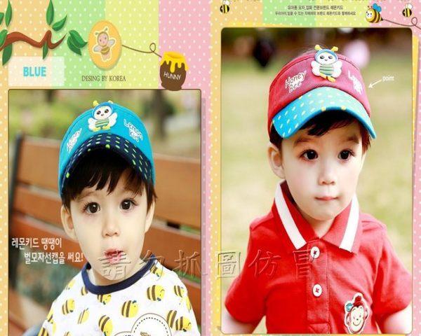 寶貝丹童裝:☆╮寶貝丹童裝╭☆新款韓國製造正品夏季小蜜蜂空頂帽遮陽帽子男女寶寶都適合