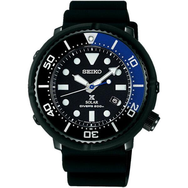 Seiko精工錶7N36-0AG0B(SBDN045J)PROSPE太陽能潛水腕錶黑面45.85mm