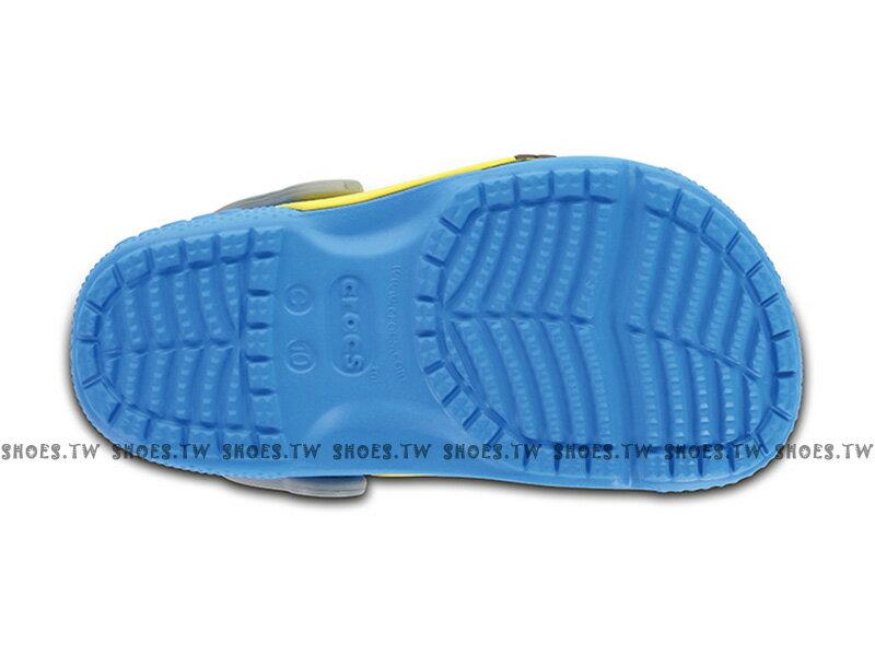 《CROCS出清69折》Shoestw【204113-456】CROCS 卡駱馳 鱷魚 輕便鞋 拖鞋 涼鞋 小小兵 神偷奶爸 大眼睛 黃藍 童鞋款 1