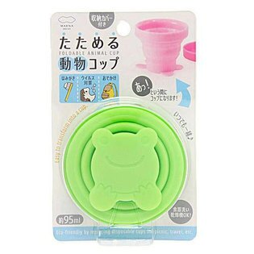 青蛙造形可折疊伸縮水杯漱口杯旅行戶外休閒好幫手不佔空間日本帶回