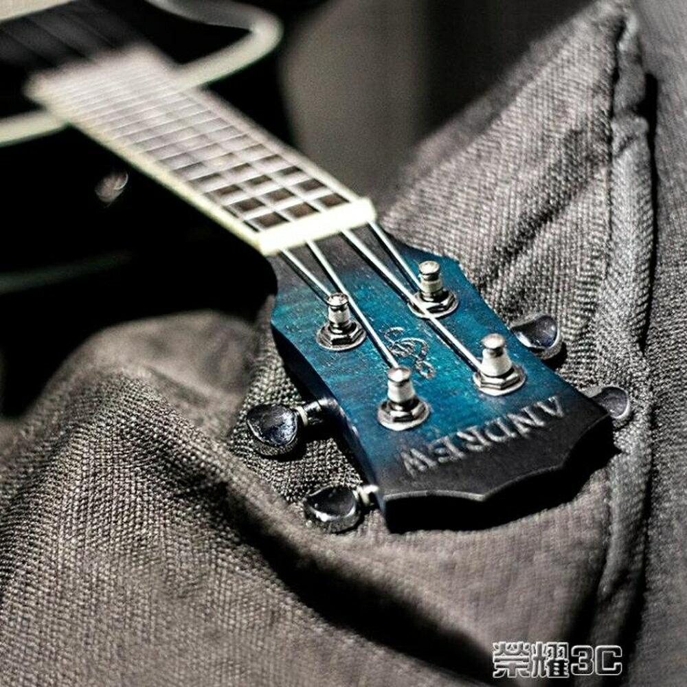 尤克麗麗 安德魯桃花心23寸藍色ukulele尤克里里小吉他學生初學烏克麗麗 JD  榮耀3c 3