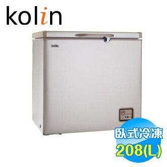 歌林 Kolin 208公升臥式冷凍櫃 KR-120F01 【送標準安裝】