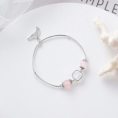 PS Mall 日韓甜美個性水晶珠子魚尾手鏈女士簡約情侶女生串珠手飾 【G2523】 4