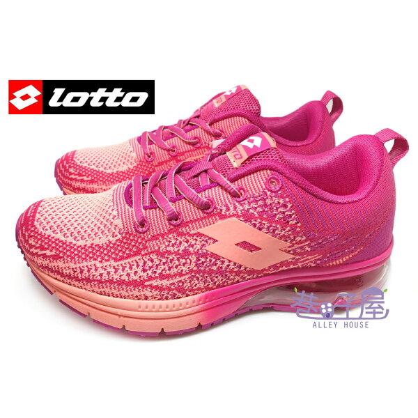 【巷子屋】義大利第一品牌-LOTTO樂得 女款編織乳膠避震氣墊運動慢跑鞋 [3283] 玫紅 超值價$690