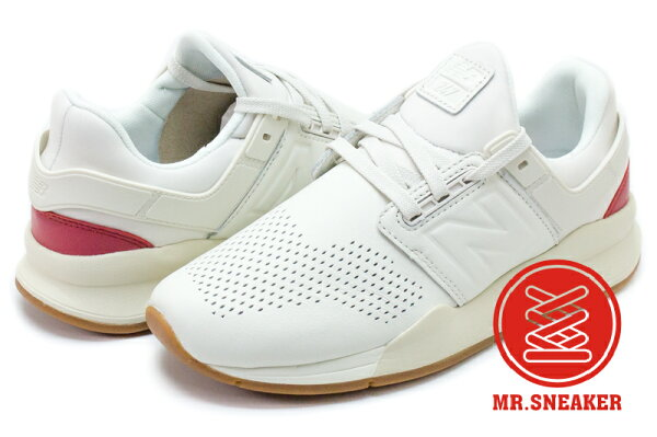 Mr. Sneaker:☆Mr.Sneaker☆NEWBALANCEMS247GV襪套白紅皮革男女段