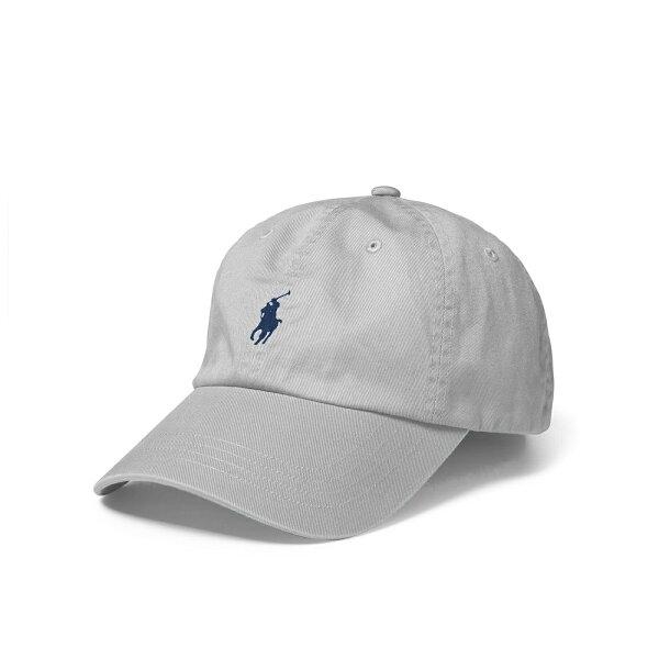 美國百分百【全新真品】RalphLauren帽子RL配件棒球帽Polo小馬帆布刺繡男灰色A732