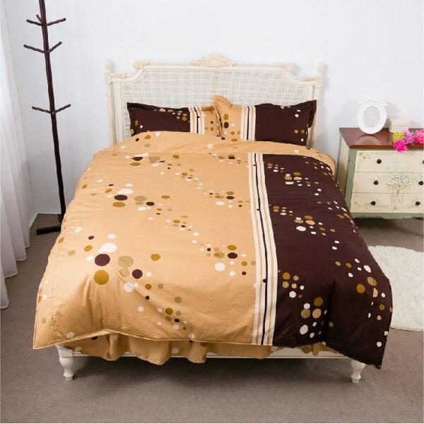 【名流寢飾家居館】憶念點點.100%純棉.特大雙人床包組.全程臺灣製造