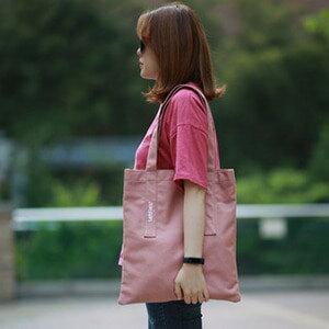 【韓國直送】單肩包韓國LEFTFIELD大容純色棉布休閒包手提包購物包NO.744