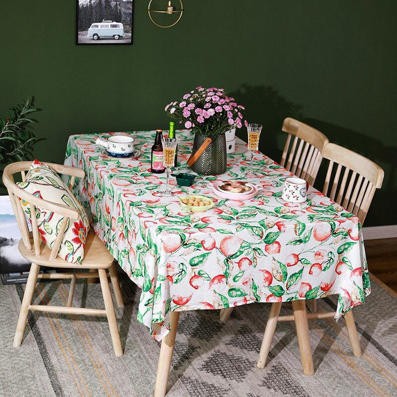 在蓬萊北歐美式鄉村餐桌布布藝野餐臺布棉麻蓋布長方形茶幾布清新 艾琴海小屋