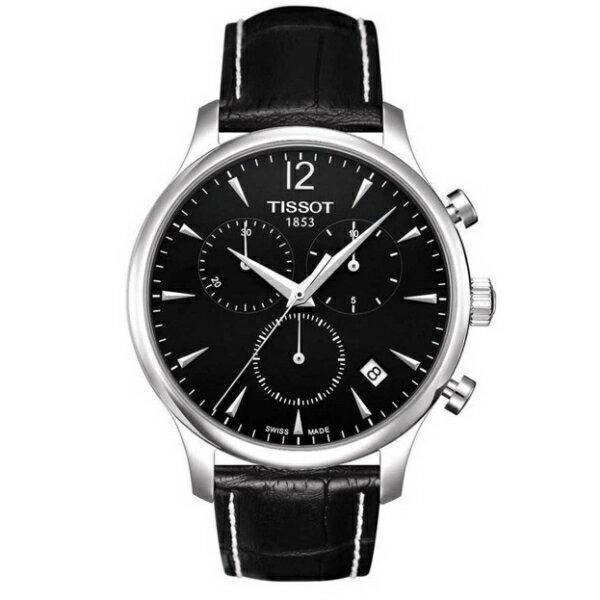 TISSOT天梭T0636171605700 TRADITION經典計時石英腕錶/黑面42mm
