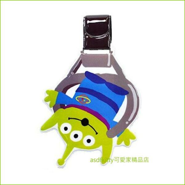 asdfkitty可愛家☆玩具總動員三眼怪超大型姓名吊牌行李箱吊牌書包吊牌-很大很明顯-日本正版商品