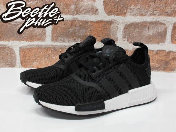 女生 BEETLE+ ADIDAS NMD R1 全黑 黑白 3M 反光 網布 慢跑鞋 S80206 23 23.5CM