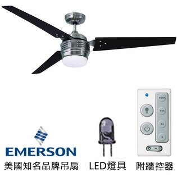 [topfan]Emerson4thAvenueLED60英吋吊扇附LED燈(CF766LBS)刷鐵色(適用於110V電壓)